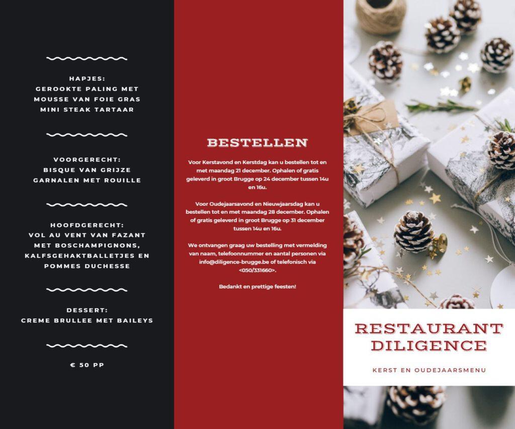 menu diligence eindejaar